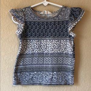 H&M fluttersleeve shirt